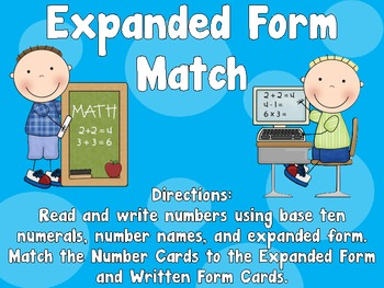 Expanded Form Match