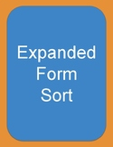 Expanded Form Matching Cards