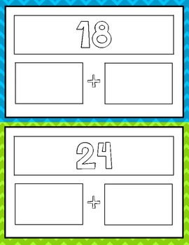 Expanded Form Math File Folder Game - Common Core - Place Value Tens & Ones