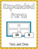 Expanded Form Math File Folder Game - Common Core - Place