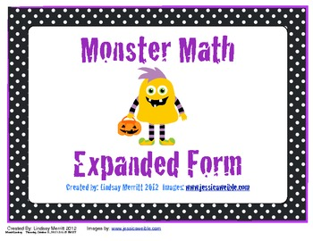Expanded Form- Math Monsters