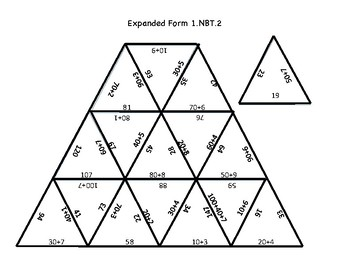 expanded form puzzle  Expanded Form Math Puzzle