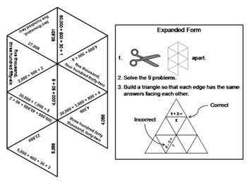 Expanded Form: Math Tarsia Puzzle