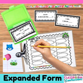 expanded form lesson plans 4th grade  14th Grade Math: Expanded Form Task Cards