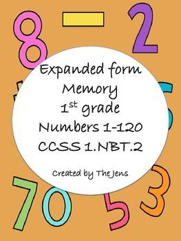 Expanded Form Memory CCSS 1.NBT.2