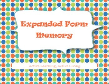 Expanded Form Memory Game