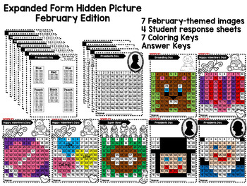 Expanded Form Mystery Pictures - February Edition