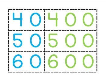 Expanded Form Number Cards