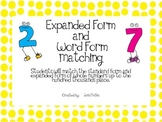 Expanded Form Number  Matching