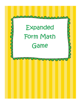 Expanded Form & Place Value Math Activity