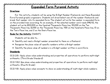expanded form lesson plan  Expanded Form/Place Value Pyramid