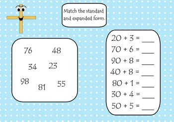 Expanded Form Primary Smart Board Lesson