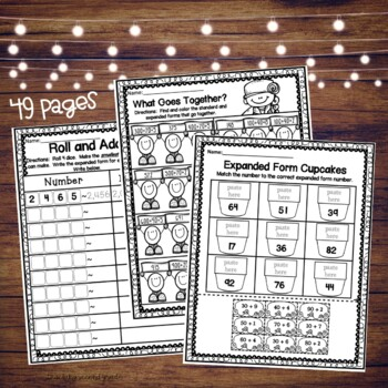 Expanded Form Worksheets by Teaching Second Grade   TpT