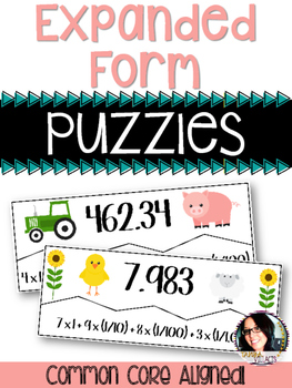 Expanded Form Puzzles 5.NBT.3 Whole Numbers and Decimals