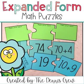 Expanded Form Puzzles {Two Digit Numbers}