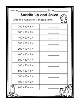 Expanded Form Puzzles and Printable Practice Pages