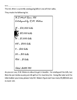 Expanded Form, Rounding, Problem Solving with the U.S. Mint