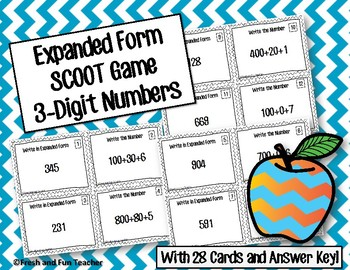 Expanded Form Task Cards [3-digit]