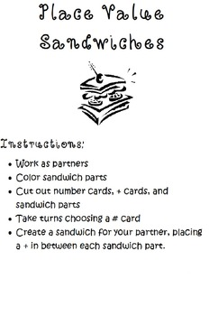 Expanded Form Sandwiches