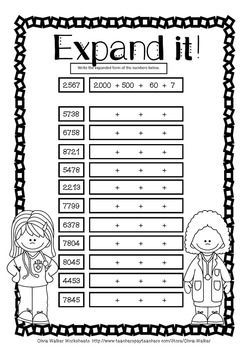 Expanded Form Standard Form Worksheets and Printables