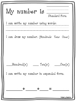 Expanded Form Standard Form Math Stations Common Core Aligned