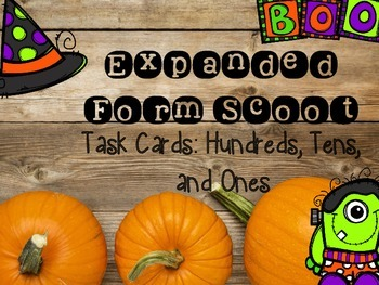 Expanded Form Scoot Task Cards