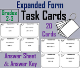 Expanded Form Task Cards 2nd 3rd Grade