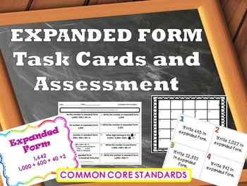 Expanded Form Task Cards