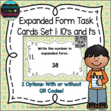 Expanded Form Task Cards Set 1: Tens and Ones