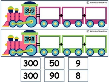 Expanded Form Three Digit Number Trains #StartFreshBTS