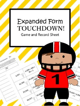 Expanded Form Touchdown Game