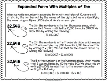 Expanded Form Using Multiples of Ten Task Cards