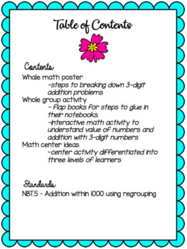 Expanded Form Whale Math, Centers and Whole Group
