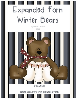 Expanded Form Winter Bears