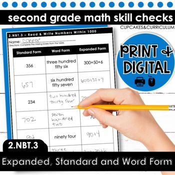 Expanded Form Word Form And Standard Form For Numbers Within 1000