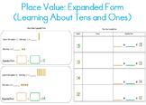 Place Value Expanded Form (Tens & Ones) for Kindergarten,