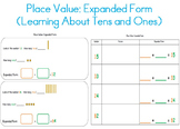 Place Value Expanded Form (Tens & Ones) for Kindergarten,