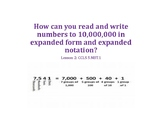 Expanded Form and Expanded Notation PowerPoint