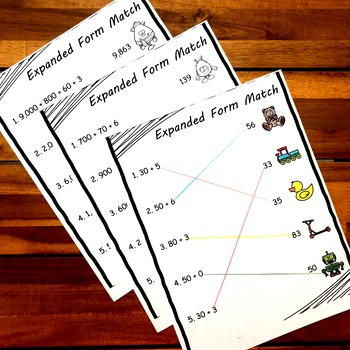 Expanded Form and Place Value Activities Activities