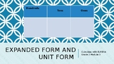 Expanded Form and Unit form Task Cards Eureka Module 3