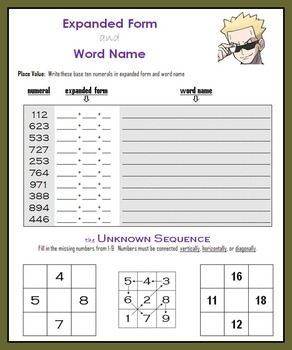Expanded Form and Word Name