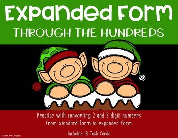 Expanded Form with 2 and 3 Digit Numbers {Christmas}