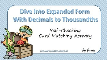 Expanded Form with Decimals to Thousandths