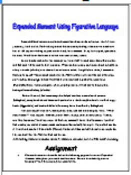 Expanded Moment & Figurative Language For Secondary English