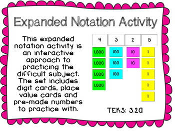 Expanded Notation Activity