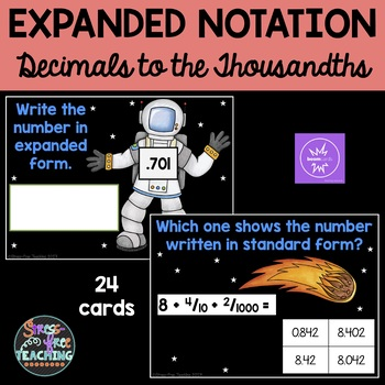 Expanded Notation - Boom Cards