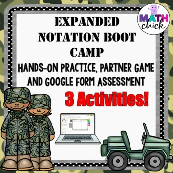 Expanded Notation Boot Camp and Partner Game 2 Activities TEKS 5.2A