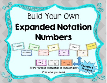 Expanded Notation - Build your Own