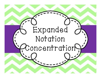 Expanded Notation Concentration