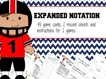 Expanded Notation Games 3rd and 4th Grade
